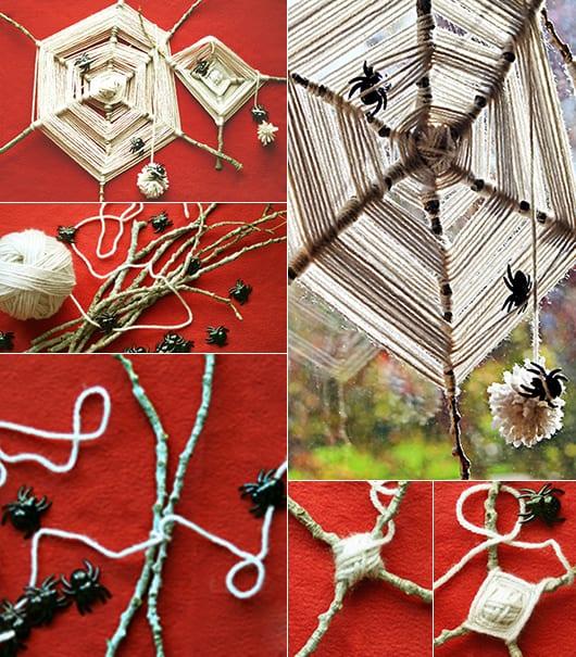einfache und kreative bastelideen für DIY halloween deko