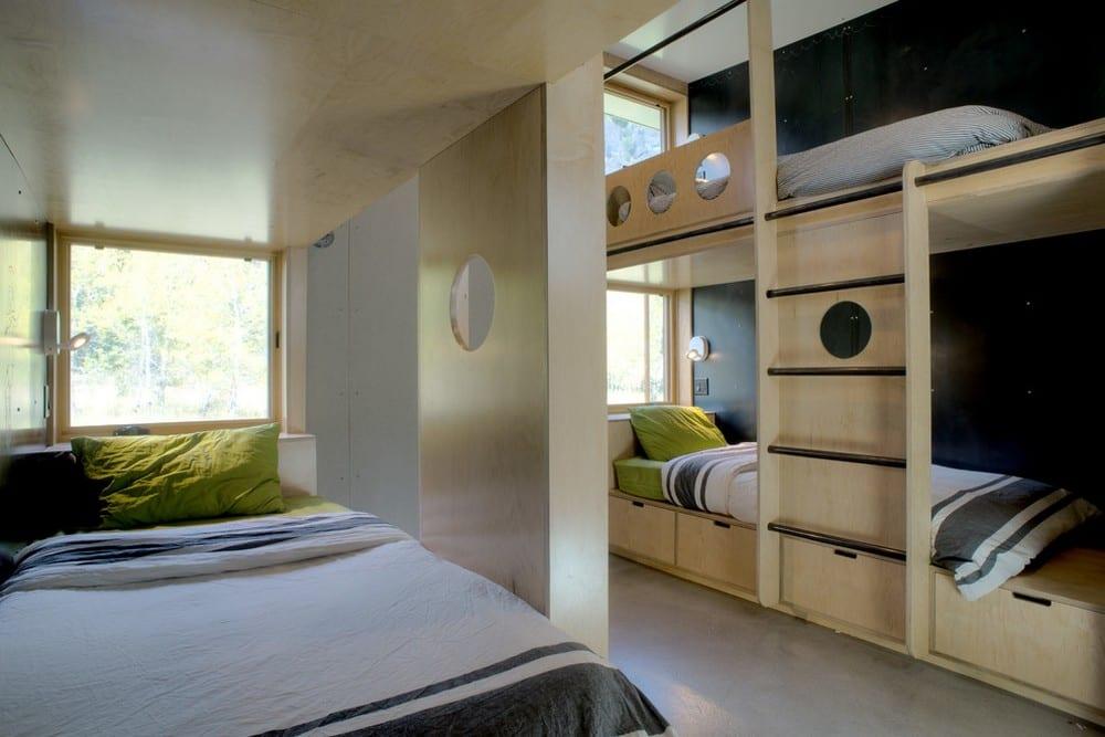 modernes kinderzimmer mit etagenbetten einrichten