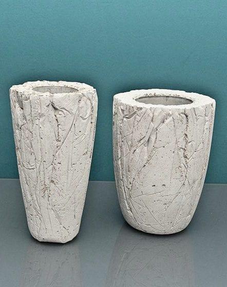 coole bastelidee mit beton für DIY-designer-Vase mit texturierter betonoberfläche