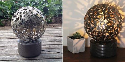 coole kugel-lampe selber bauen aus alten schlüsseln