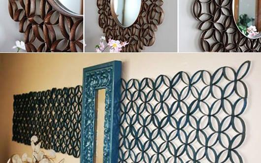 kreative wandgestaltung in blau mit deko aus papier und spiegel freshouse. Black Bedroom Furniture Sets. Home Design Ideas
