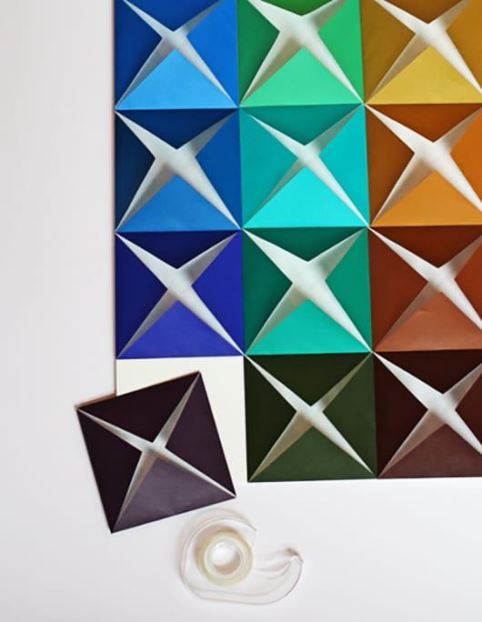 coole wandgestaltung kinderzimmer und kreative basteln papier idee für Wanddekoration aus papier