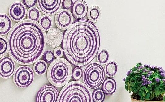 Kreative Wandgestaltung mit Deko aus Papier