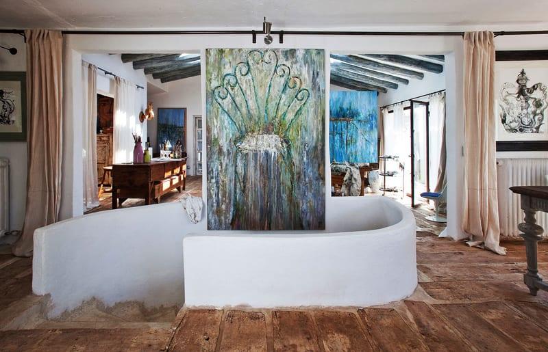 Schöne Häuser Mit Boden Aus Beton Und Holz Und Coole Wandgestaltung Mit  Bildern
