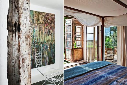 schöne häuser mit rustikalem Interieur aus Holz