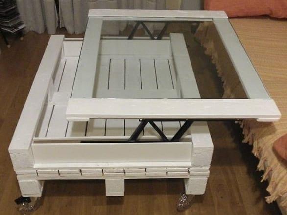 couchtisch weiß aus paletten selber bauen als idee zum bauen mit paletten