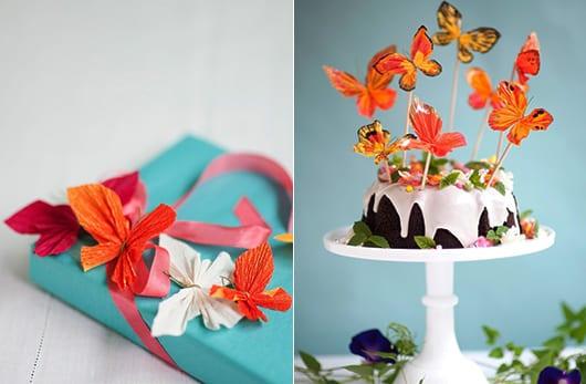 deko selber machen_origami schmetterling als bastelidee für coole DIY Dekoration
