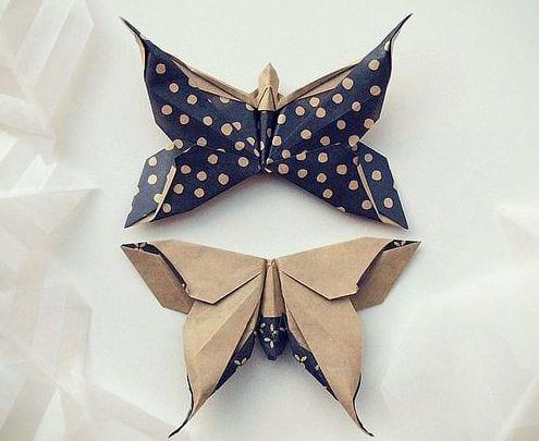 schmetterling origami als idee für kreative dekoration zum selber machen