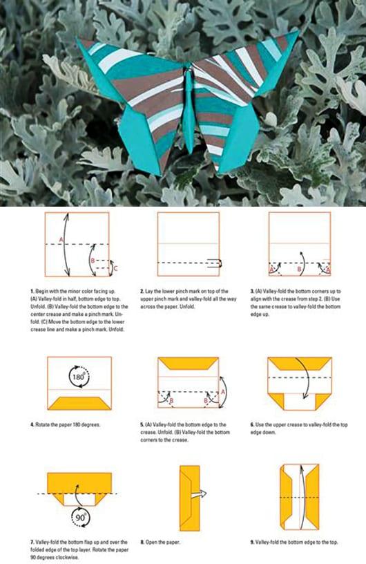 coole schmetterling-origami selber falten