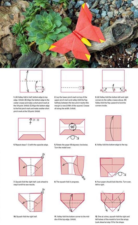 3D-Schmetterlinge als interessante Dekoration