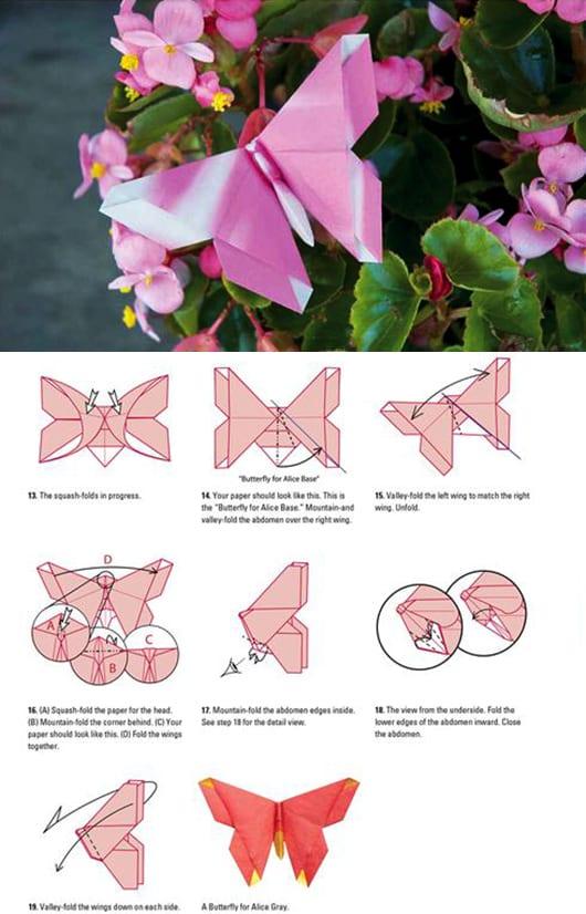 kreative DIY-Dekoration mit Schmetterlingen in rosa