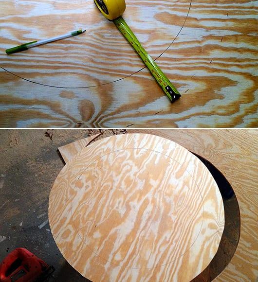 Turbo Rahmen aus Holzscheiben für Designer Spiegel - fresHouse BJ49