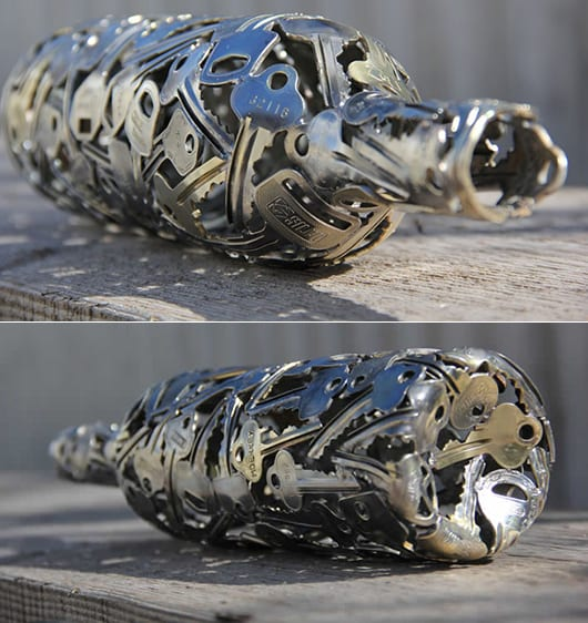 coole bastelidee mit alten schlüsseln für interessante DIY Dekoration