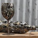 coole DIY-Schlüssel-Dekoration als idee für tischdeko und basteln mit metall
