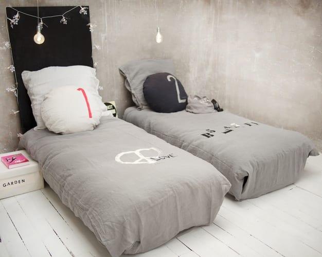 designer bettwäsche aus leinen für schlafzimmer grau