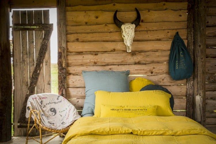 bettbezüge und kopfkissenbezüge in gelb für kleines schlafzimmer holz