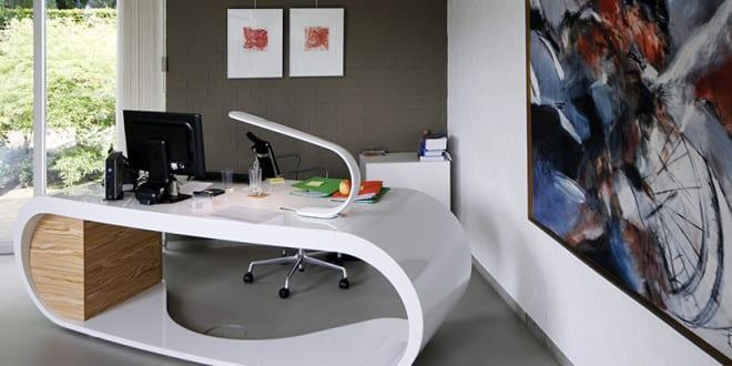 schreibtisch design wei. Black Bedroom Furniture Sets. Home Design Ideas