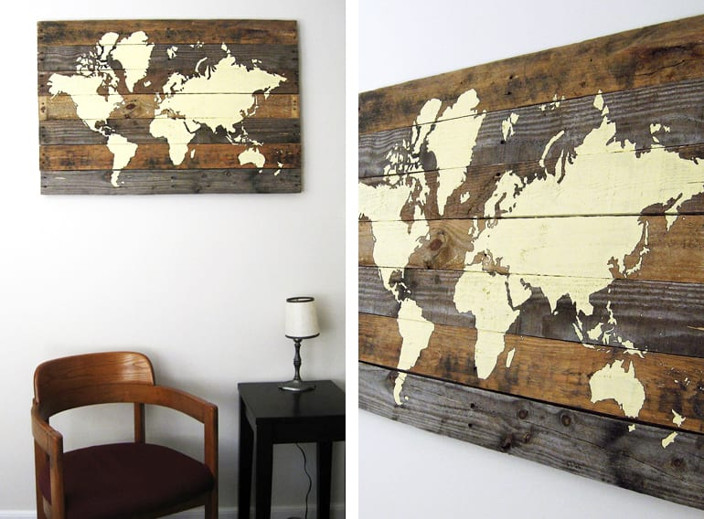 inspiration für bauen mit paletten als DIY-Wanddeko mit bildern