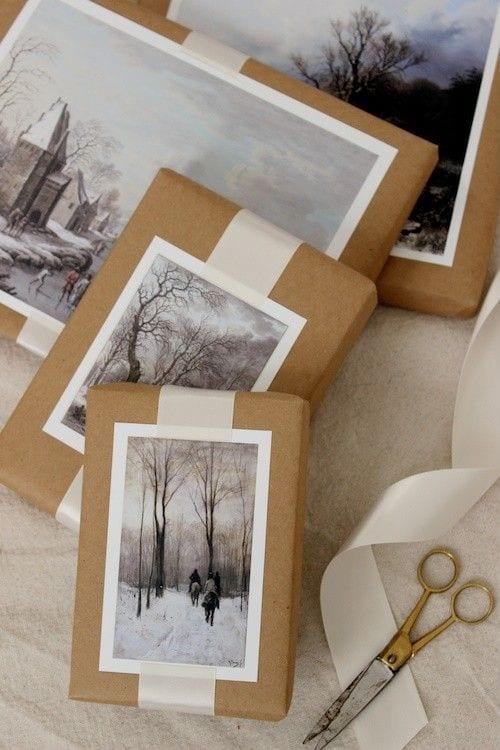 geschenk schön verpacken mit bildern und fotos