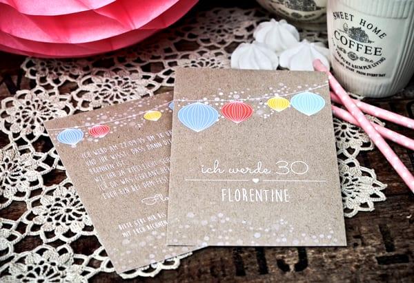 kreative einladungskarten geburtstag selber gestalten als coole idee zum 30.Geburtstag