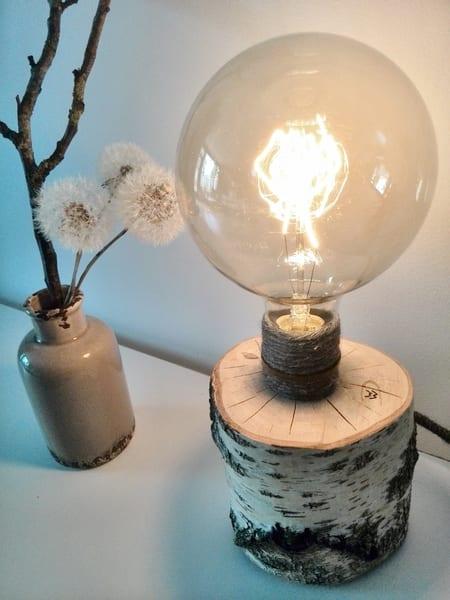 tischlampe selber bauen aus holz als coole dekoidee