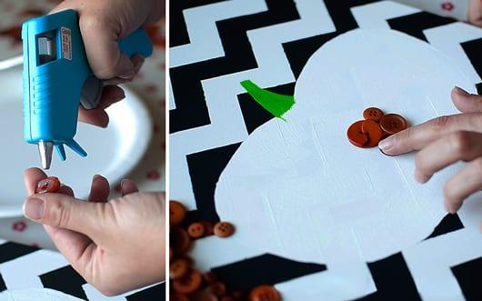 ideen halloween für DIY Deko Halloween mit Leinwand Collage in schwarz-weiß