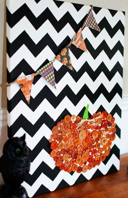 ideen halloween für Deko halloween in schwarzweiss mit kürbis-collage