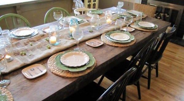 Coole tischdeko idee zum tisch decken mit sackleinen freshouse - Coole tischdeko ...
