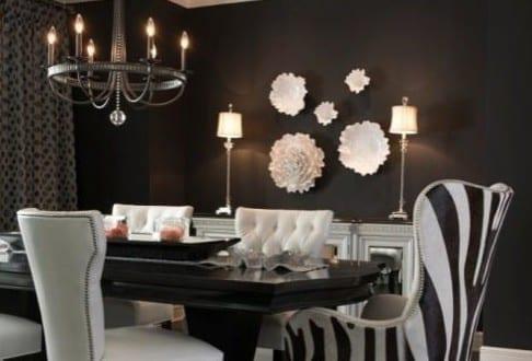 dekoideen wohnzimmer schwarzwei und moderne wandgestaltung wohnzimmer mit wei en blumen aus. Black Bedroom Furniture Sets. Home Design Ideas
