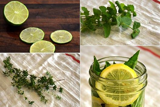 hausgemachte Lufterfrischer aus Zitronen und limetten
