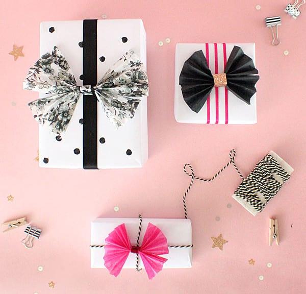 geschenke schön verpacken mit DIY Papierfliege