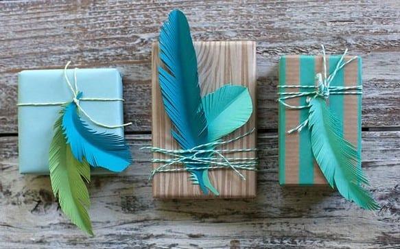 geschenke schön verpacken in blau