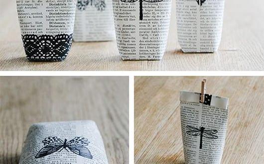 geschenkverpackung basteln und aus b cherseiten selber. Black Bedroom Furniture Sets. Home Design Ideas