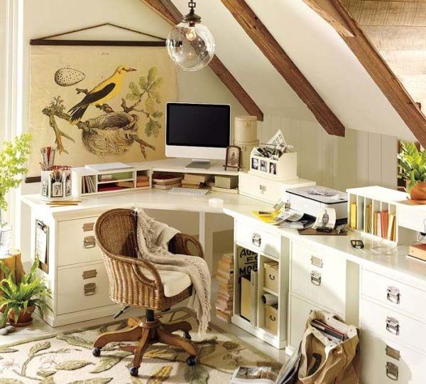 das kleine home office modern und gem tlich einrichten. Black Bedroom Furniture Sets. Home Design Ideas