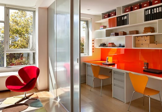 home office ideen und moderne einrichtung mit b rom bel in weiss und orange copy freshouse. Black Bedroom Furniture Sets. Home Design Ideas