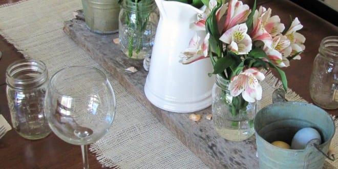 ideen zum tisch decken und tisch dekorieren mit sackleinen freshouse. Black Bedroom Furniture Sets. Home Design Ideas