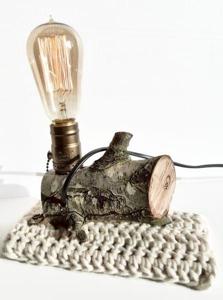 originelle und moderne Tischlampen aus Zweigen