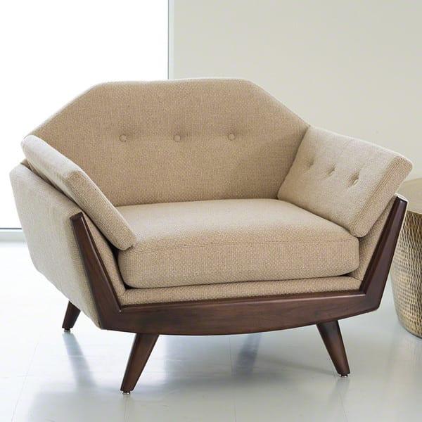 bequeme sessel mit polsterkissen beige für moderne Wohnzimmer einrichtung