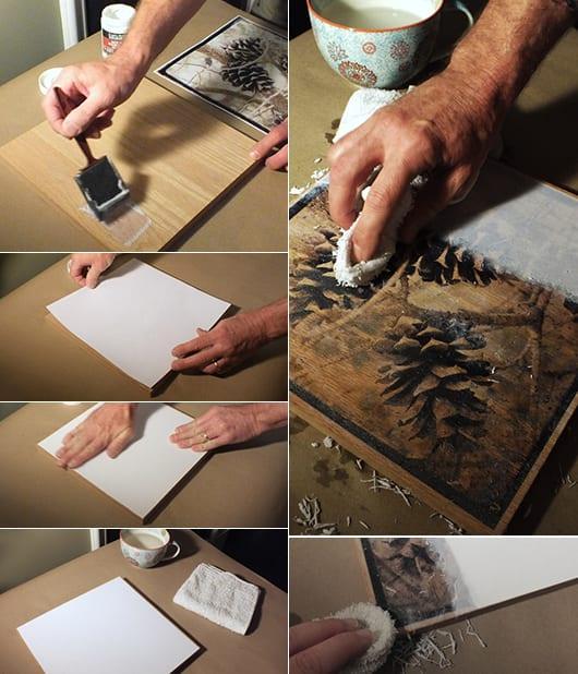 fotodruck auf holz als bastelidee für DIY Wanddeko und kreative wandgestaltung mit bildern