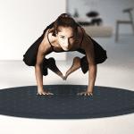 teppich rund aus wolle mit eingebauten sensoren und LED für heimtraining von yoga und pilates