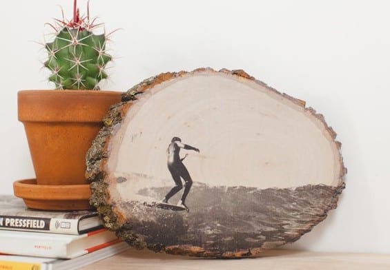 foto auf holz drucken und kreative Holz deko selber machen