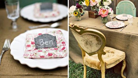tisch decken im vintage stil mit tischdecke aus sackleinwand freshouse. Black Bedroom Furniture Sets. Home Design Ideas
