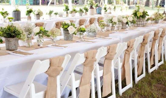 Tisch Decken Pic : Tisch decken mit sackleinen freshouse