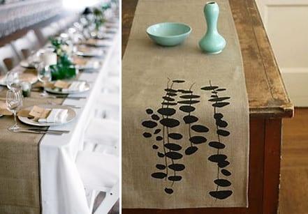 Tischläufer Modern tisch decken mit sackleinen freshouse