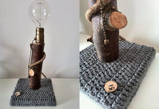 coole einrichtungsideen mit DIY tischlampe aus holz