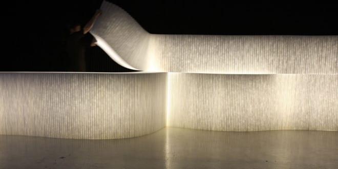 trennwände aus Papier und coole raumteiler ideen mit LED-beleuchtung ...