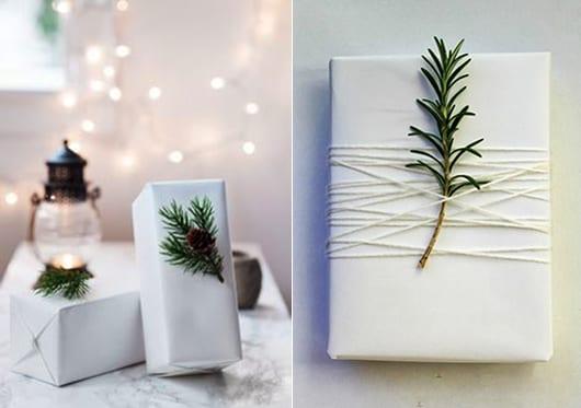 weiße geschenkverpackung für weihnachtsgeschenke