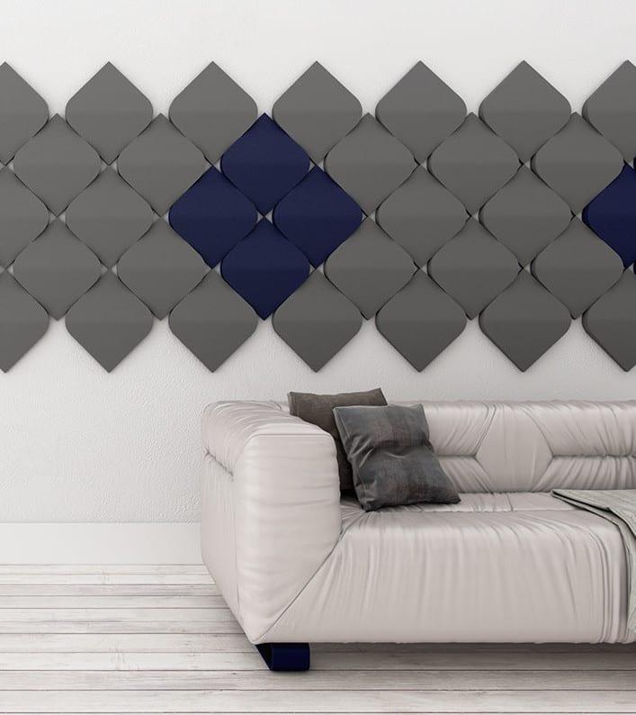 Kreative Wandgestaltung Wohnzimmer Und Farbgestaltung Wohnzimmer Mit Grauen  3d Paneelen