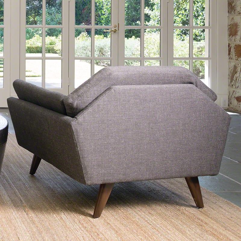 bequeme sessel grau als lounge sessel für wohnzimmer