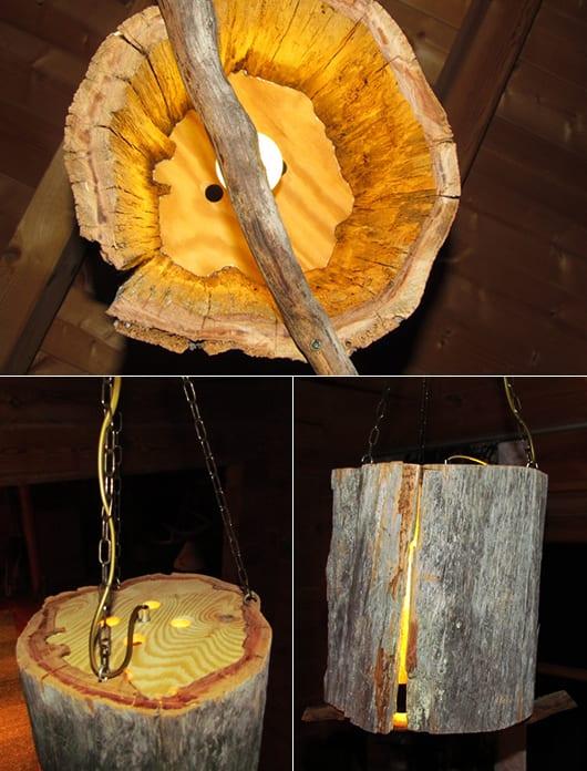 DIY lampe aus holz_coole einrichtungsidee mit selbstgemachten Pendellampen